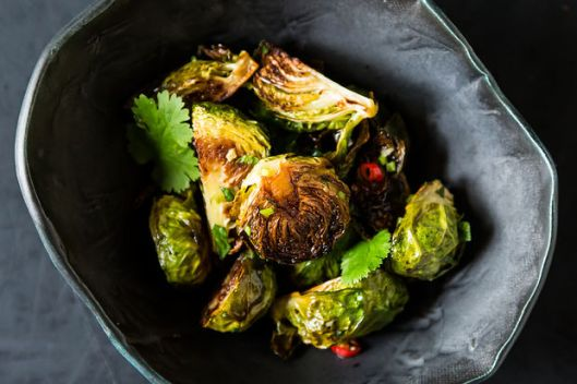 Food 52, Amanda Hesser and Merrill Stubbs' brussels sprouts with fish sauce side dish.