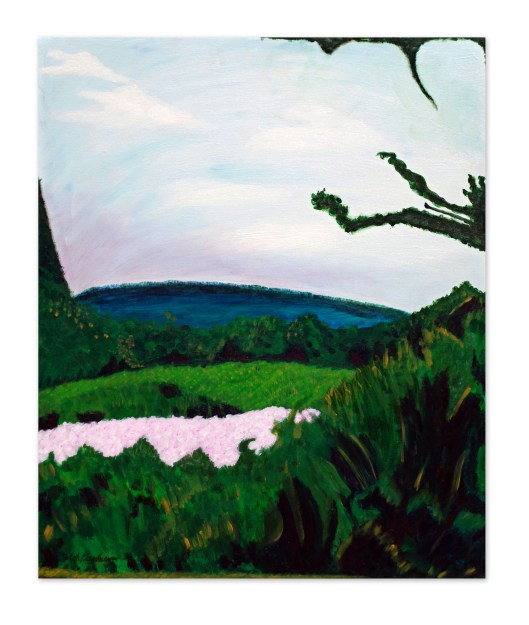 "Acrylic painting in Hudson by Mary accepted to juried art show at Hudson Opera House called ""Provence In Ancram"""