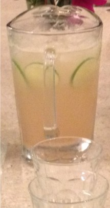 Ginger lime and seltzer drink that is refreshing for summer.