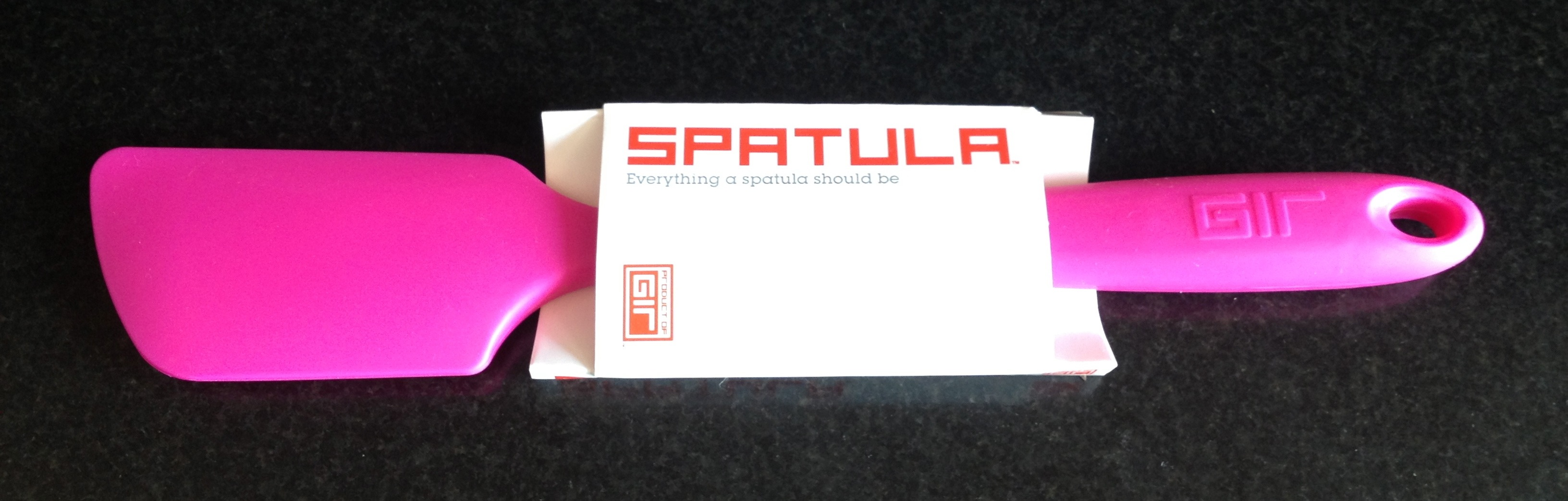 Get It Right spatula in hot pin with packaging.