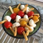 Jaxns twice baked potato sticks with cheese and tomatoes.