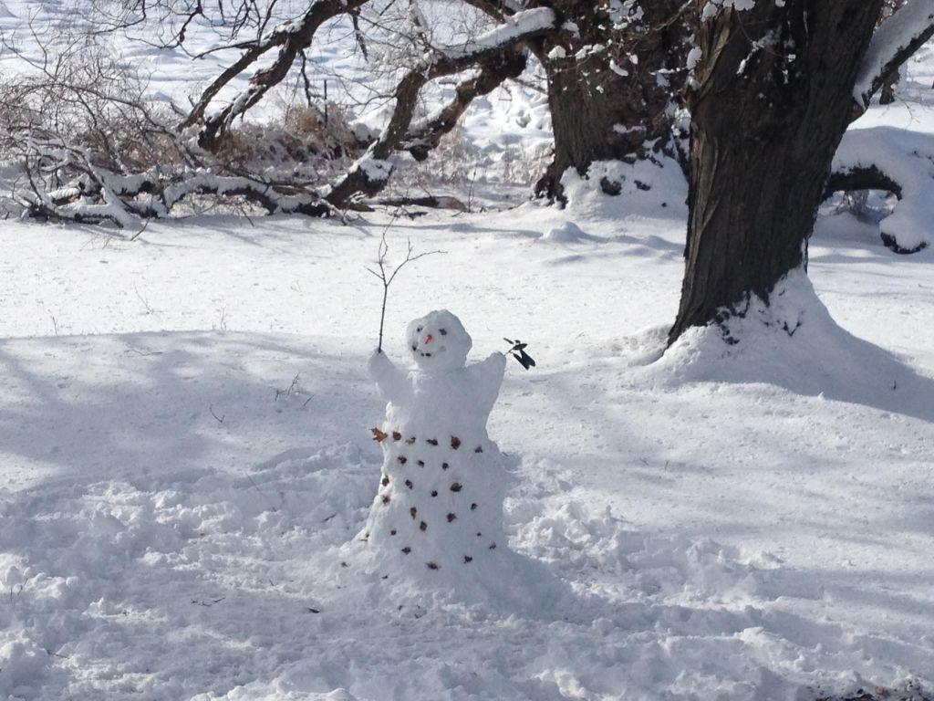 Snowman with a skirt.