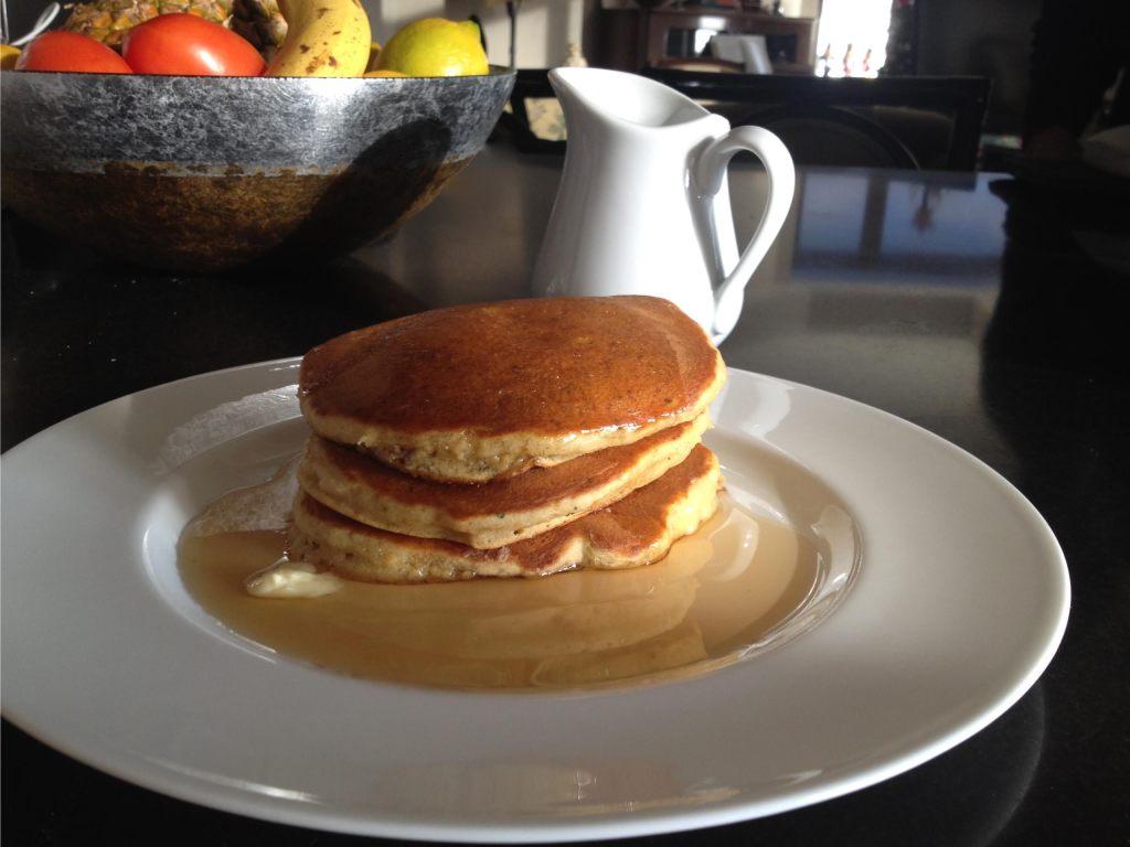 SerendipiTea Pancakes on a plate.