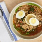 Panera Bread lentil quinoa egg broth bowl.