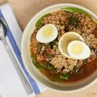 Panera Bread lentil quinoa egg broth bowl.