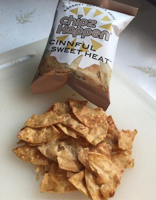 Chipz Happen bag with chips.