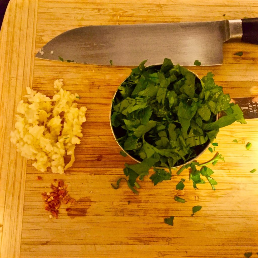 Quick Weeknight Pasta and Tuna Dinner ingredients on a cutting board.