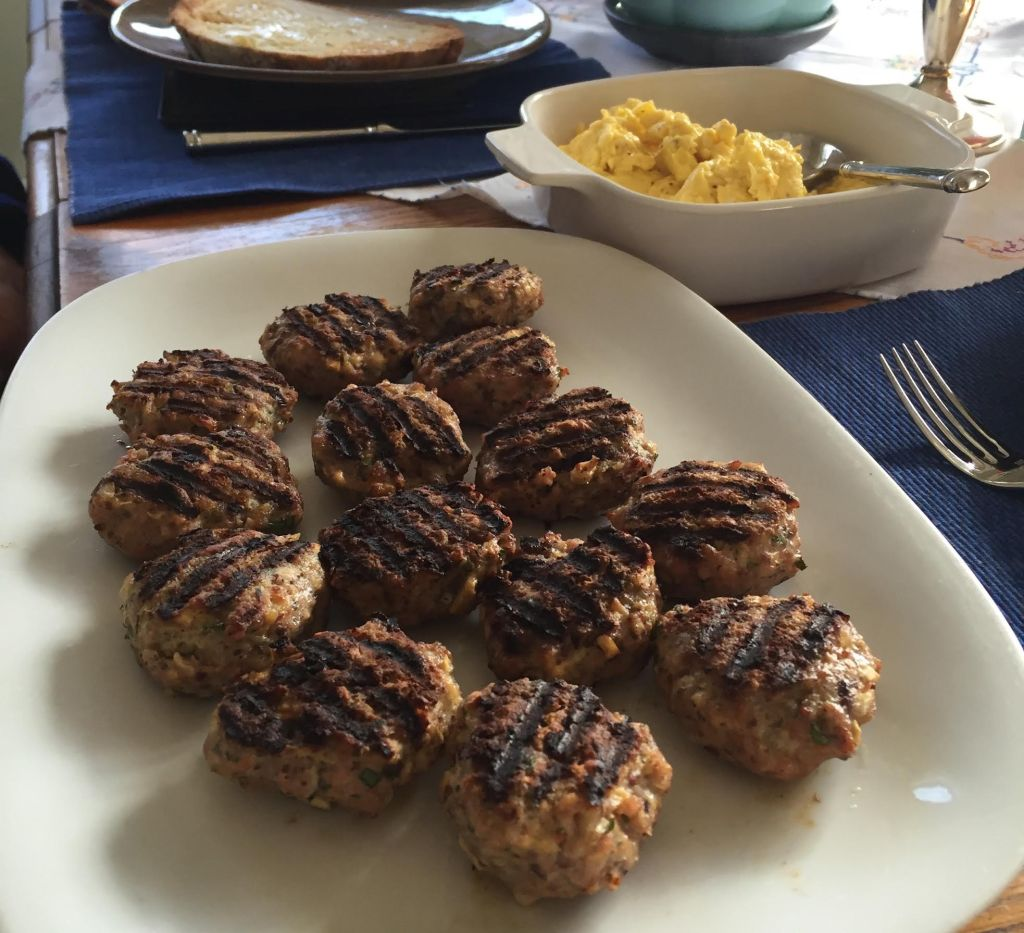 Delicious Sunday Morning Breakfast Sausage Patties finished patties on a platter.