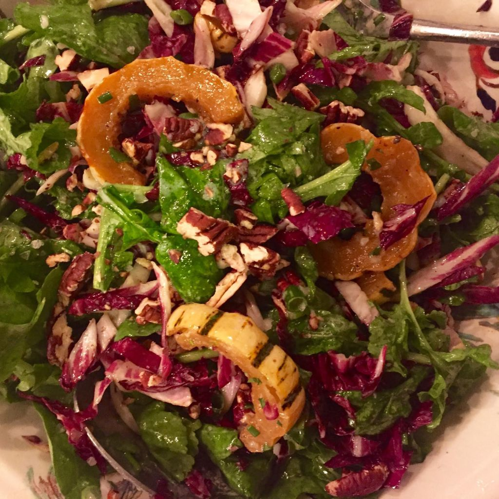 Roasted Squash and Radicchio Salad With Buttermilk Dressing - close-up.