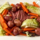 Corned beef and cabbage dinner for St. Patrick's Day dinner.