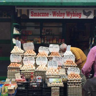 Eggs at the market, Hala Mirowska.