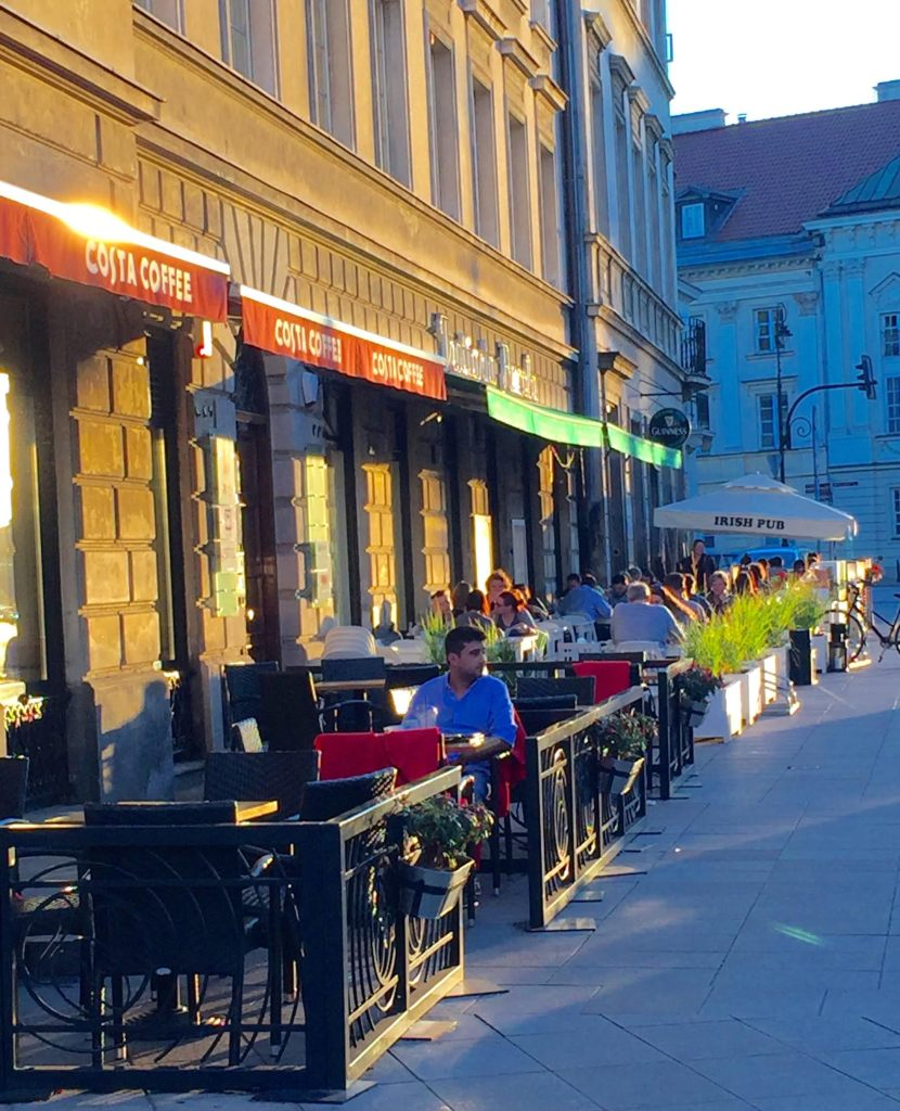 Castle Square sidewalk cafes.