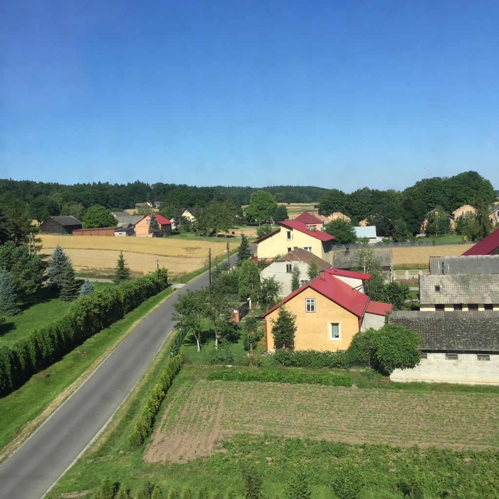 Beautiful Polish countryside on the way to Krakow.