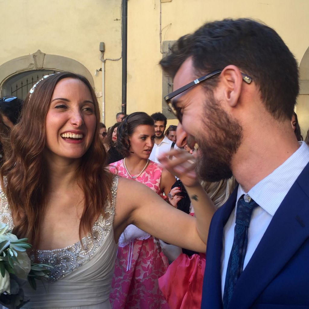 Bianca Bonechi with a Mazur boy at her wedding.
