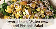 AVOCADO, WATERCRESS, and PINEAPPLE SALAD