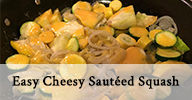 Easy Cheesy Sautéed Squash