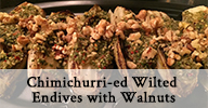 Chimichurri-ed Wilted Endives with Walnuts