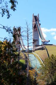 Ski jumps in Lake Placid, home of the 1932 and 1980 Winter Olypics