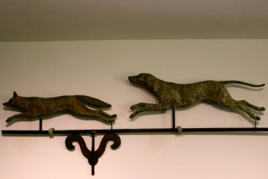 Fox and hound weathervane