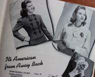 "Jingoistic oddity--embroidery is identified as ""American from away back""?"