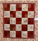 Flights of Fancy by Nancy Dayton. Nancy owns the redwork coverlet shown above.