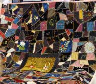 A crazy quilt from the 1890s