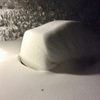 There's a car under there