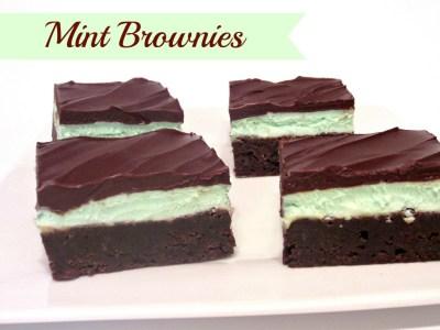 Chocolate Mint Brownies (6)