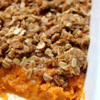 Sweet Potato Casserole with Oat Streusel