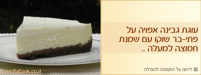 עוגת גבינה אפויה על בסיס ביסקוויטים