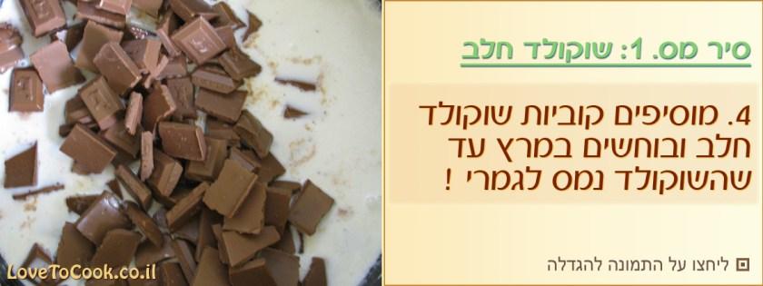 עוגת ביסקוויטים שוקולד