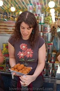 New York - Amy serving treats at Greenwich Village Food & Walking Tour