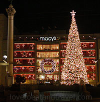 Macy's Union Square Tree Lighting in San Francisco, CA