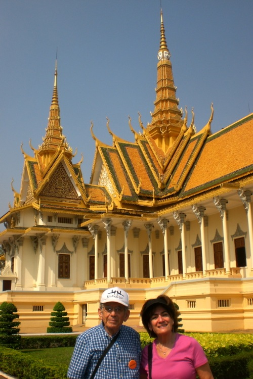 Bob & Bonnie at the Royal Palace in Phnom Penh, Cambodia - © B. Miller