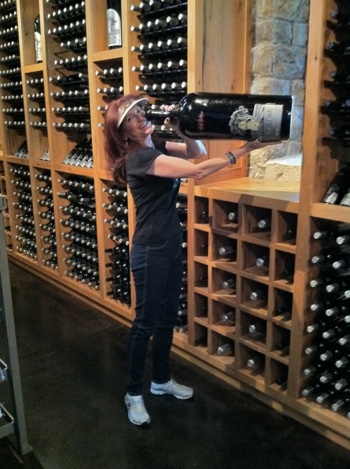 Alana in Silver Oak Glass House Wine Library in Napa Valley - © LoveToEatAndTravel.com