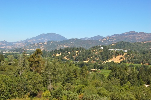 View from Terrace at Sterling Vineyards in Calistoga, Napa Valley - © LoveToEatAndTravel.com