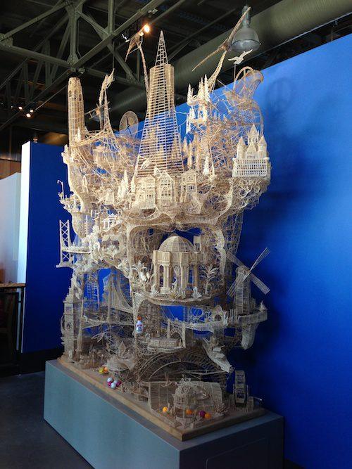 Toothpick Sculpture at Exploratorium, San Francisco © LoveToEatAndTravel.com