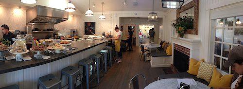 Bumble restaurant open kitchen and dining area - Los Altos, CA © LoveToEatAndTravel.com