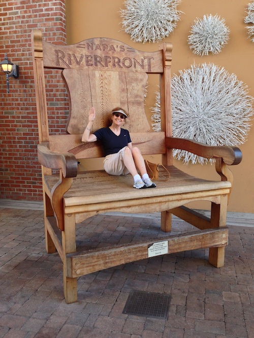 Oh to be a kid again! Giant chair at Napa's Riverfront - © LoveToEatAndTravel.com