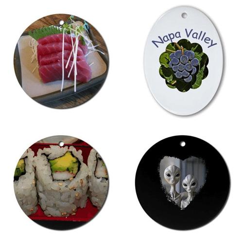 Fun Gift Ornaments (Sushi, Napa Valley and Aliens) – © LoveToEatAndTravel.com