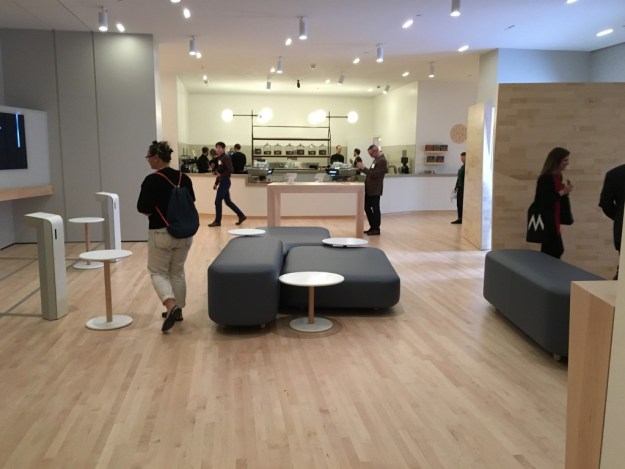 Sightglass Coffee Bar Seating at SFMOMA - photo © Love to Eat and Travel