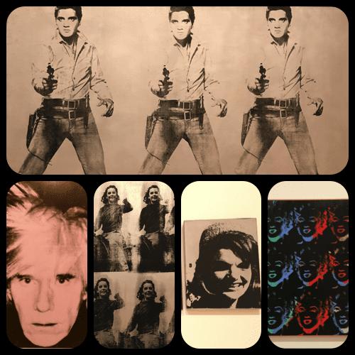 Warhol Collection (Elvis, Warhol self-portrait, Liz Taylor, Jackie Kennedy and Marilyn Monroe) at SFMOMA – © Andy Warhol