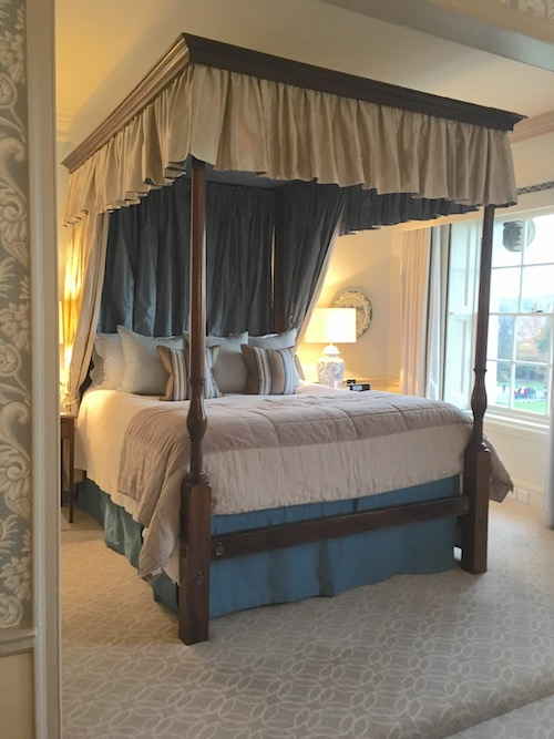 Four-Poster Bed in the John Wood Suite at The Royal Crescent Hotel & Spa, Bath, UK - photo © Love to Eat and Travel