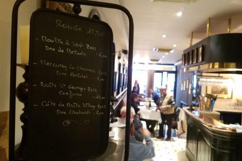 Ecrit Vin bistro wine sign - Photo Credit: Deborah Grossman