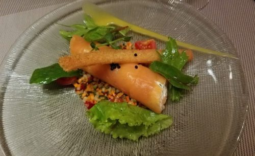 Le Bistro Bord de l'Eau smoked salmon appetizer - Photo Credit: Deborah Grossman