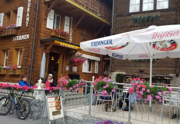 Leukerbad Restaurant Sterner for raclette - Credit: Deborah Grossman