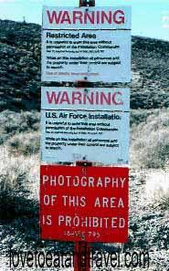 Area 51 sign, Nevada