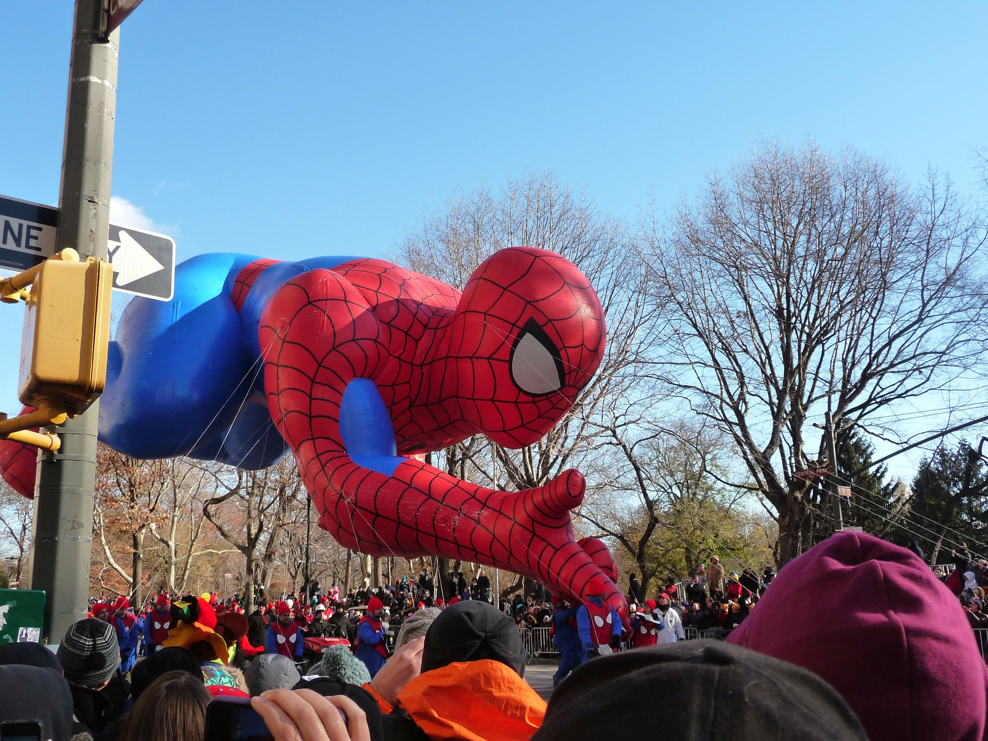 Giant Spider Man Balloon Float, Macy's Thanksgiving Day Parade, NYC