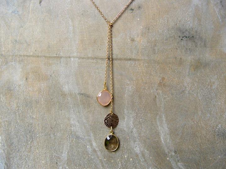 collier sautoir 2 perles