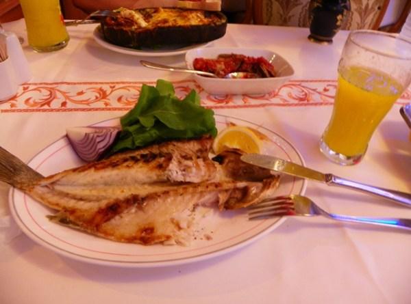 Рыбный ресторан в Кумкапи